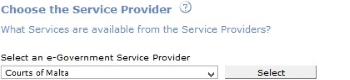 Choose the Service